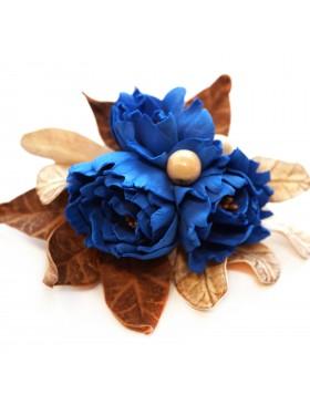 """Brosche """"Die blaue Blume"""""""