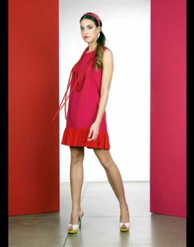 kleid bicolore