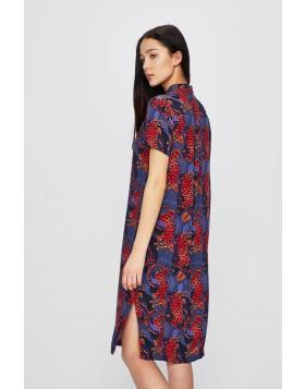 Hemdblusenkleid mit abstraktem Muster