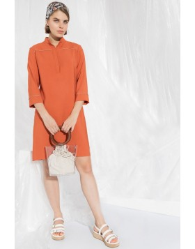 Kleid in orange