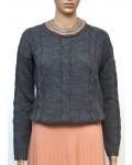 Wollpullover in grau